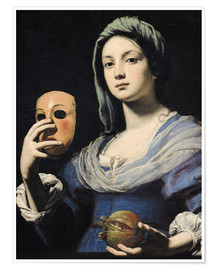 Poster Premium Woman with a Mask