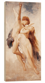 Stampa su legno  Cupid and Psyche - William Adolphe Bouguereau