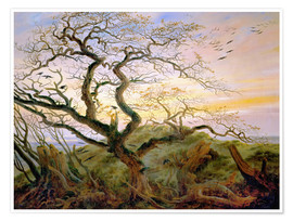 Poster  The Tree of Crows - Caspar David Friedrich