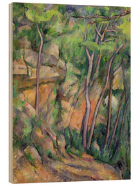 Stampa su legno  In the Park of Chateau Noir - Paul Cézanne