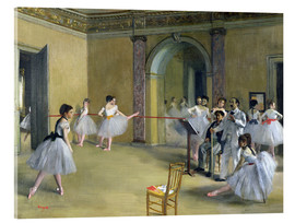 Stampa su vetro acrilico  The Dance Foyer at the Opera on the rue Le Peletier - Edgar Degas