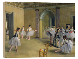 Stampa su legno  The Dance Foyer at the Opera on the rue Le Peletier - Edgar Degas