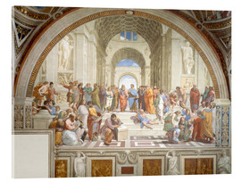 Vetro acrilico  The School of Athens - Raffael
