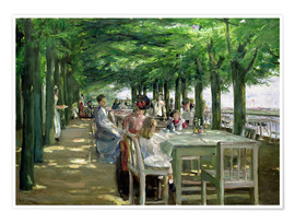Poster  The Terrace at Jacob's Restaurant in Nienstedten-an-der-Elbe - Max Liebermann