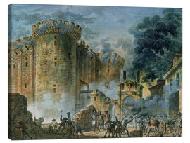 Stampa su tela  The Taking of the Bastille - Jean-Pierre Houel