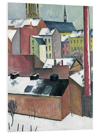 Stampa su schiuma dura  The Church of St Mary in Bonn in Snow - August Macke
