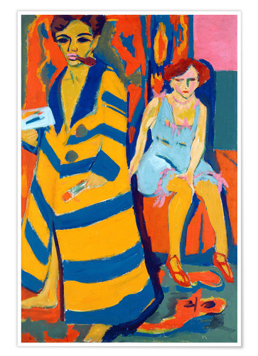 Poster Premium Ernst Ludwig Kirchner with a Model