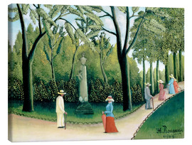 Stampa su tela  The Monument to Chopin in the Luxembourg Gardens - Henri Rousseau