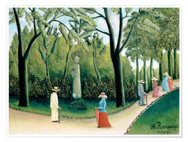 Poster Premium  The Monument to Chopin in the Luxembourg Gardens - Henri Rousseau
