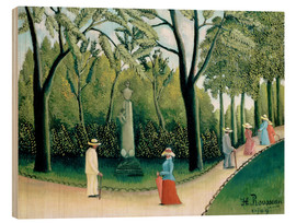Stampa su legno  The Monument to Chopin in the Luxembourg Gardens - Henri Rousseau