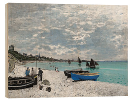 Stampa su legno  The Beach at Sainte-Adresse - Claude Monet