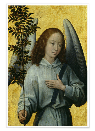 Poster Premium Angel Holding an Olive Branch