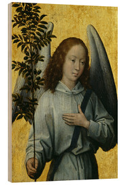 Stampa su legno  Angel Holding an Olive Branch - Hans Memling