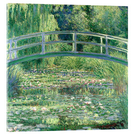 Vetro acrilico  White Waterlilies - Claude Monet