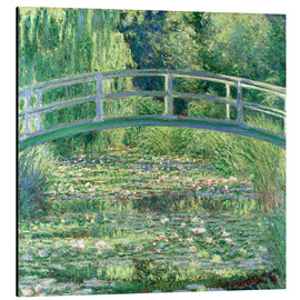 Alluminio Dibond  White Waterlilies - Claude Monet
