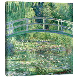 Tela  White Waterlilies - Claude Monet