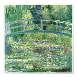 Poster  White Waterlilies - Claude Monet