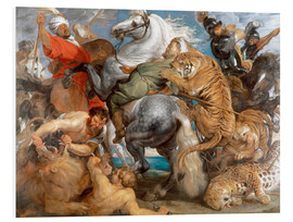 Stampa su schiuma dura  The Tiger Hunt - Peter Paul Rubens
