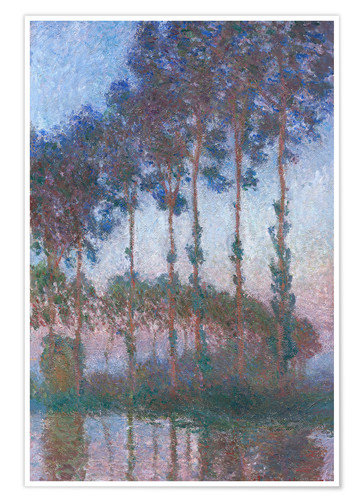 Poster Premium Poplars on the Banks of the Epte