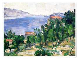 Poster Premium  View of Mount Marseilleveyre and the Isle of Maire - Paul Cézanne