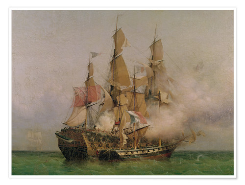Poster Premium The Taking of the 'Kent' by Robert Surcouf