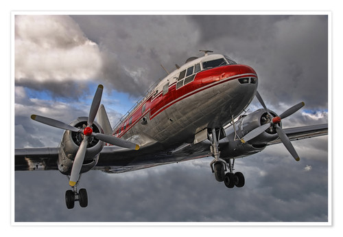 Poster Premium old lady of aviation