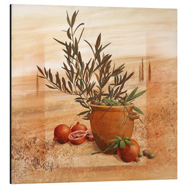 Stampa su alluminio  Pomegranate and olive harvest - Franz Heigl