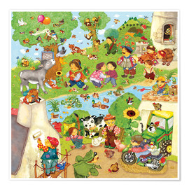 Poster Premium Nursery songs I