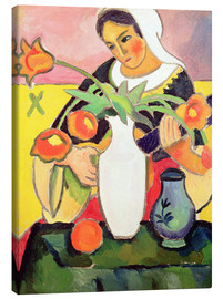 Stampa su tela  The Lute Player - August Macke