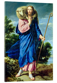 Stampa su vetro acrilico  The Good Shepherd - Philippe de Champaigne
