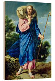 Stampa su legno  The Good Shepherd - Philippe de Champaigne