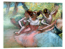 Stampa su vetro acrilico  Four ballerinas on the stage - Edgar Degas