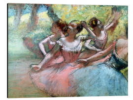 Alluminio Dibond  Four ballerinas on the stage - Edgar Degas