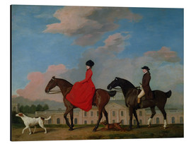 Stampa su alluminio  John and Sophia Musters riding at Colwick Hall - George Stubbs