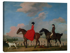 Stampa su tela  John and Sophia Musters riding at Colwick Hall - George Stubbs