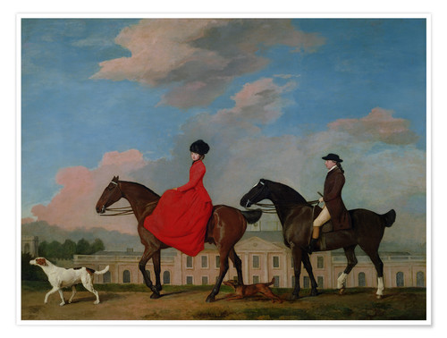 Poster Premium John and Sophia Musters riding at Colwick Hall