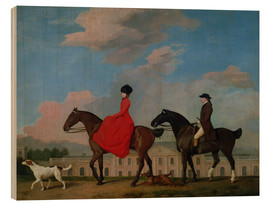 Legno  John and Sophia Musters riding at Colwick Hall - George Stubbs