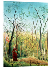 Stampa su vetro acrilico  The walk in the forest - Henri Rousseau