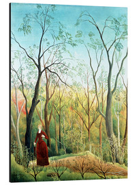 Stampa su alluminio  The Walk in the Forest - Henri Rousseau