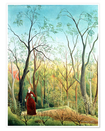 Poster Premium  The walk in the forest - Henri Rousseau