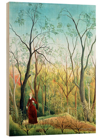 Stampa su legno  The Walk in the Forest - Henri Rousseau