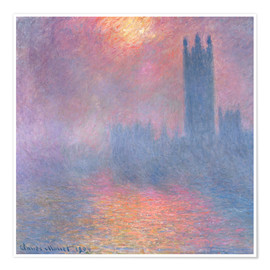 Poster Premium  The Houses of Parliament - Claude Monet