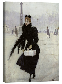 Tela  Parisian woman in the Place de la Concorde - Jean Beraud