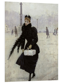 Stampa su schiuma dura  Parisian woman in the Place de la Concorde - Jean Beraud