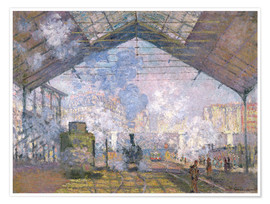 Poster Premium  The Gare St. Lazare - Claude Monet