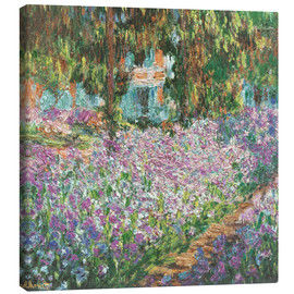 Stampa su tela  The Artist's Garden at Giverny - Claude Monet