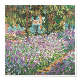 Poster  The Artist's Garden at Giverny - Claude Monet