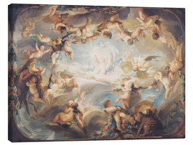 Stampa su tela  The Triumph of Cupid over all the Gods - Gabriel de Saint-Aubin