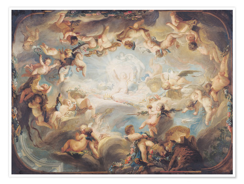 Poster Premium The Triumph of Cupid over all the Gods