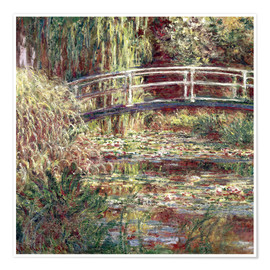 Poster  Waterlily Pond: Pink Harmony - Claude Monet